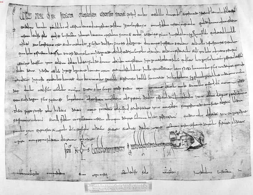 Hoinge - Urkunde aus dem Jahr 782